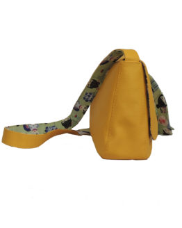 sac poppy yellow côté